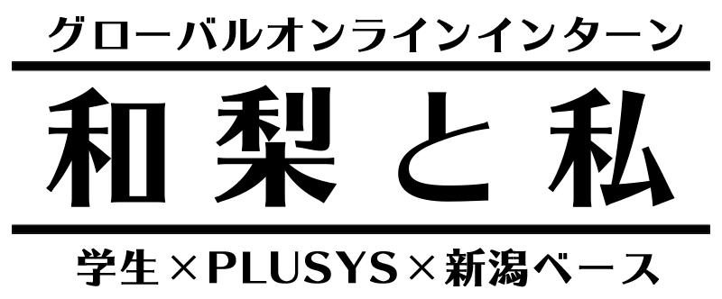 和梨と私 グローバルオンラインインターン 学生✕PLUSYS✕新潟ベース